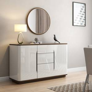 white sideboards for living room modern curtains pictures designer crockery units buy wooden sideboard cabinets online in baltoro high gloss finish by urban ladder