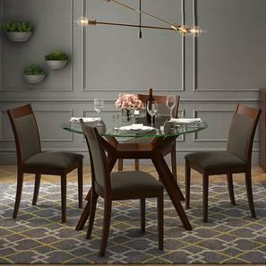 glass top kitchen table craigslist island all dining sets check 19 amazing designs buy online wesley dalla 4 seater round set grey dark walnut