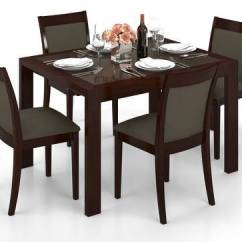 Glass Top Kitchen Table Italian Cabinets Vanalen 4 To 6 Extendable Dalla Seater Dining Set