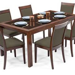Glass Top Kitchen Table Best Countertops Vanalen 6 To 8 Extendable Dalla Seater Dining Set