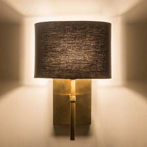 wall lamps living room ceiling lighting ideas for small lights urban ladder lynx lamp black cotton shade by