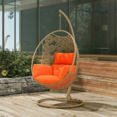 Hanging Chair With Stand Dubai Pine Kitchen Chairs Arms Balcony Tables Garden Outdoor Furniture Kyodo Swing Orange By Urban Ladder