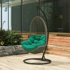 swing chair with stand pepperfry mission style and ottoman outdoor chairs buy online for best piver teal by urban ladder