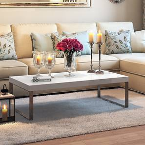 marcel coffee table white gloss finish large size