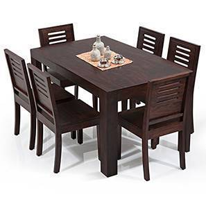 dinner table and chairs pottery barn teen dining sets buy tables online in india urban ladder arabia capra 6 seater set mahogany finish by
