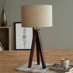 Side Lamps For Living Room Decorating Large Wall Ideas Table And Lighting Online Buy In India Jersey Lamp Dark Walnut Base Finish By Urban Ladder