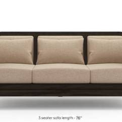 Leather Vs Fabric Sofa India Distressed Restoration Hardware Wooden Set Designs Buy Sets Online Urban Ladder Satori Macadamia Brown 1 Seater Custom Sofas