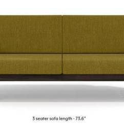 Single Sofa Design E Oxitona Wooden Set Designs Buy Sets Online Urban Ladder Parsons American Walnut Finish Olive Green 1 Seater Custom