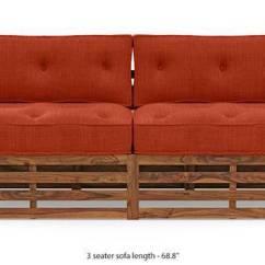Foldable Wooden Sofa Set Baxton Studio Beige Linen Chesterfield Designs Buy Sets Online Urban Ladder Raymond Teak Finish Lava