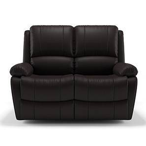 good leather sofas in bangalore uk manufactured recliner sofa chair buy lazy boy tribbiani wooden two seater chocolate brown leatherette by urban ladder