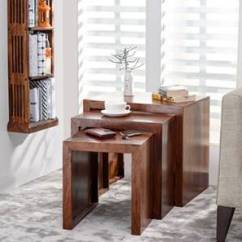 Tables Living Room Design Beautiful Rooms With Sectionals Side Table End Shop Furniture Online Hamilton Nested Stools Teak Finish By Urban Ladder