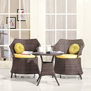 buy living room chairs bradington truffle set balcony garden online in india calabah patio armchair table brown by urban ladder