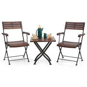 folding chair india floating pool chairs target balcony buy garden online in masai arm table set teak finish black by urban ladder