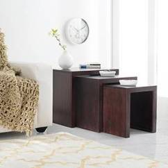 Cheap Side Tables For Living Room Wall Lamps Table End Shop Furniture Online Hamilton Nested Stools Mahogany Finish By Urban Ladder
