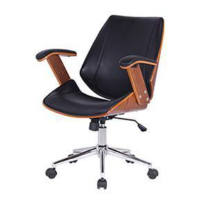 office chair online design for debut study check chairs designs price buy urban ray walnut finish black by ladder