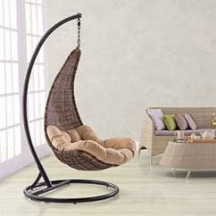 Hanging Chair With Stand Dubai Bed Argos Co Uk Balcony Tables Garden Outdoor Furniture Danum Swing Brown By Urban Ladder