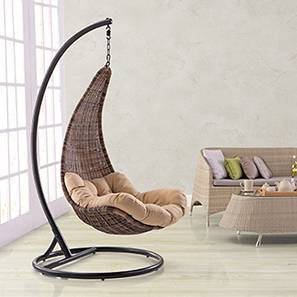 swing chair hyderabad old wooden high parts outdoor chairs buy online for best danum brown by urban ladder