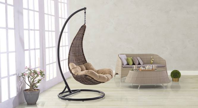 swing chair with stand bangalore best high for babies 2018 danum urban ladder brown by