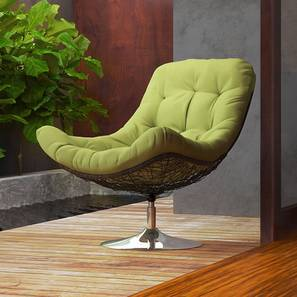 revolving easy chair cheap yellow covers lounge chairs buy designer online in india urban ladder calabah swivel green by