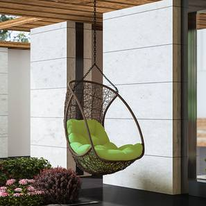 hanging chair flipkart and ottoman slipcovers set outdoor swing chairs buy online for best calabah with long chain green brown finish by urban ladder