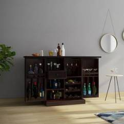 Living Room Mini Bar Furniture Design Decorating Ideas For Second Cabinet Designs Home Wooden Unit Portable Set Caledonia Mahogany Finish By Urban Ladder