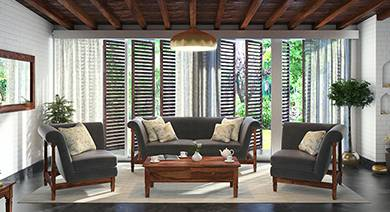 wooden sofa living room rooms with navy blue furniture set buy unique designs online in india urban ladder sets