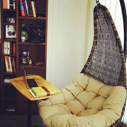swing chair hyderabad broyhill dining chairs discontinued calabah urban ladder it doesn t make much difference how the is put on as long danum