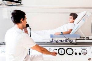 cámara hiperbárica monoplaza clínica Ulcemed Madrid