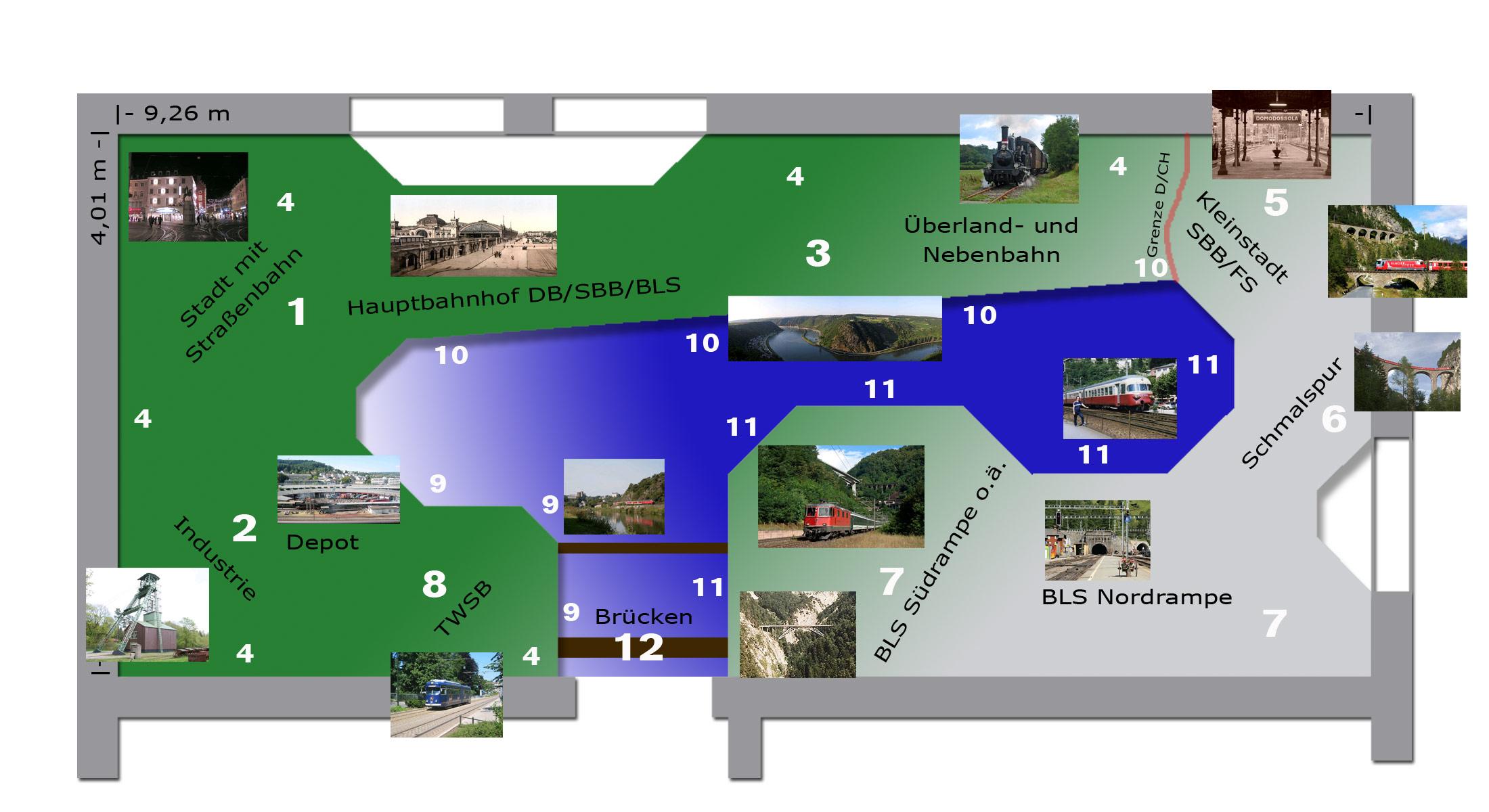 "Modellbahn-Konzept ""Lago di Reno"""