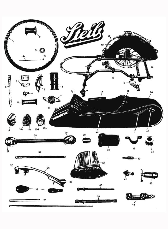 Sidecar spare parts