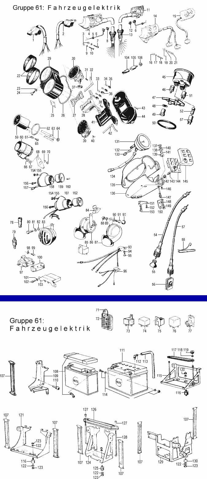 Système électrique, instruments, contacteurs: R50/5
