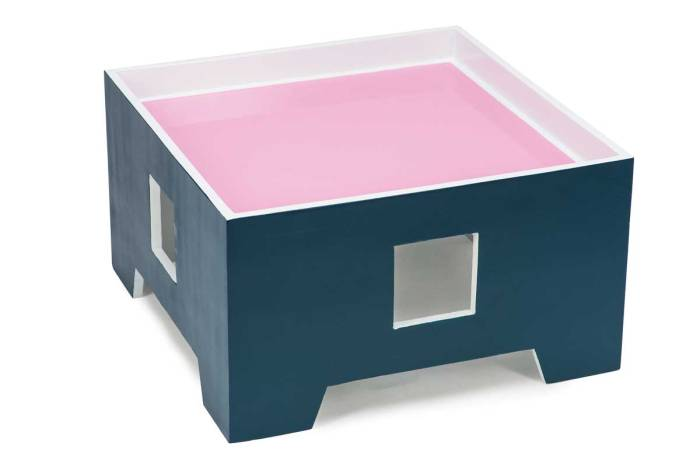 Pink Candy Ice Side Table