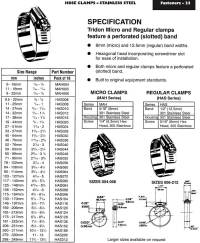 Hose Clamps - stainless steel - Ullrich Fasteners Catalogue