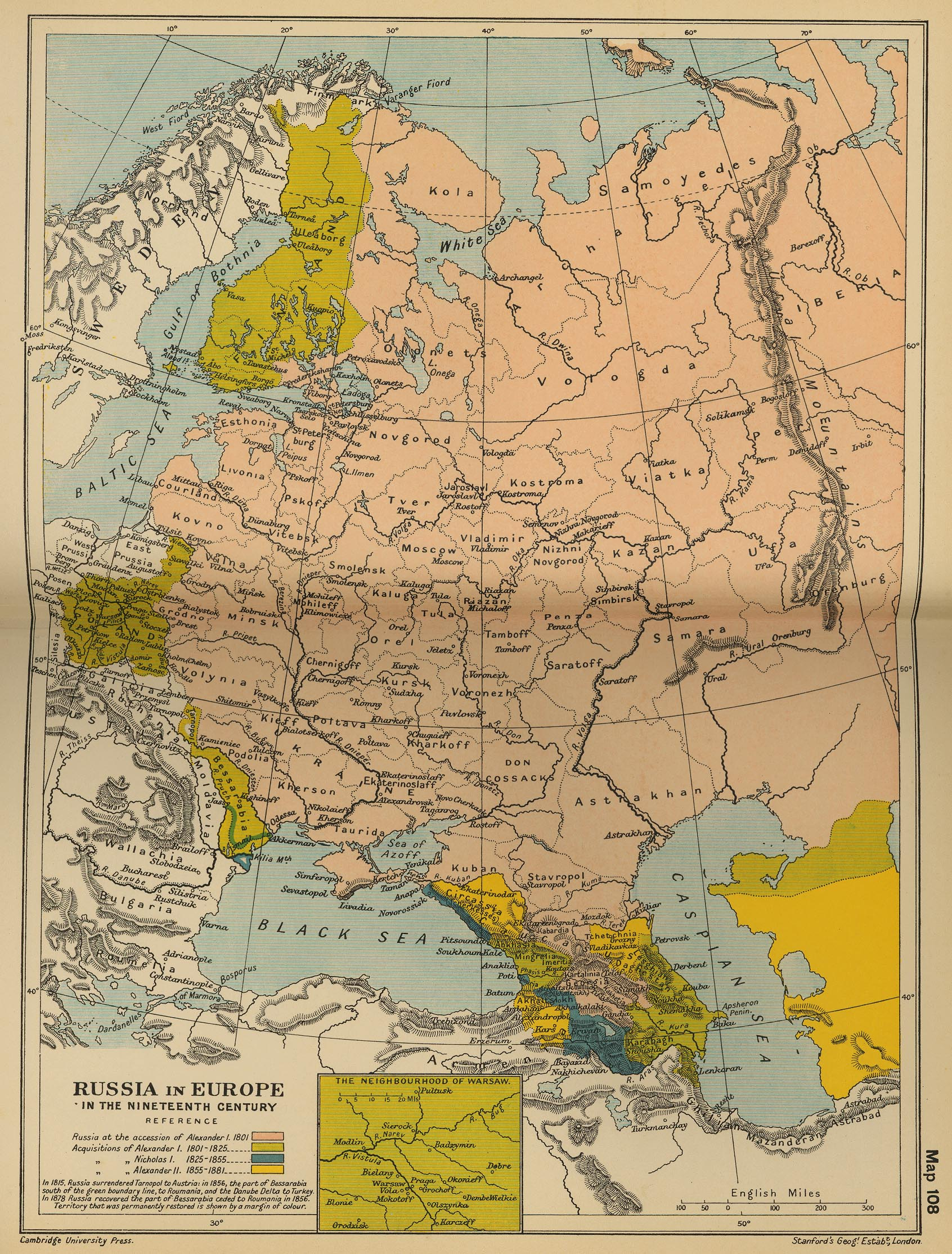 Russia In The 19th Century Map
