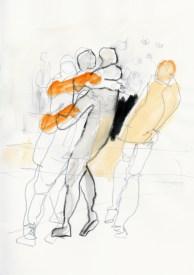 Serie Alles in Bewegung 10 | 2010 | Mischtechnik auf Papier | ca. 28 x 20 cm