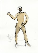 Papa | 2012 | Mischtechnik auf Papier | ca. 28 x 20 cm