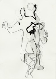 Serie Alles in Bewegung 04 | 2010 | Mischtechnik auf Papier | ca. 28 x 20 cm