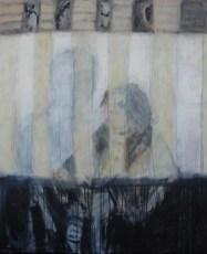Hinter Gittern   2007   Acryl auf Leinwand   100 x 80 cm