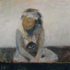 Kind mit Puppe | 2007 | Acryl auf Leinwand | 100 x 100 cm