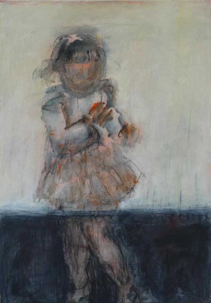 Kind rennt | 2007 | Acryl auf Leinwand | 100 x 70 cm