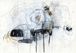 O.T. 14 | 2016 | Mischtechnik auf Papier | 29,7 x 42 cm