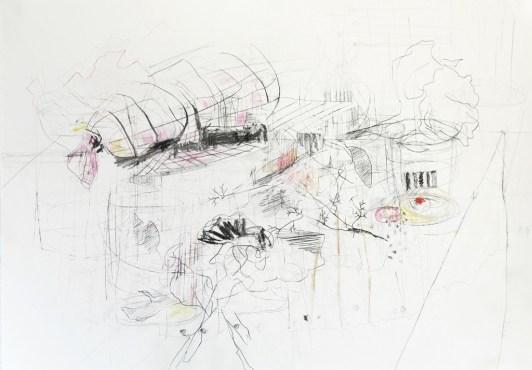 O.T. 01 | 2014 | Mischtechnik auf Papier | 42 x 59,4 cm