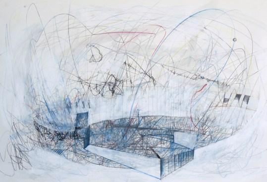 O.T. 15 | 2014 | Mischtechnik auf Papier | 52,2 x 84 cm
