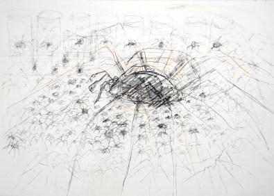 Serie 'Hör zu' 11 | 2013 | Mischtechnik auf Papier | 42 x 59,4 cm