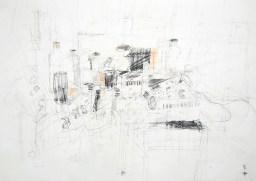 Serie 'Hör zu' 04 | 2013 | Mischtechnik auf Papier | 42 x 59,4 cm