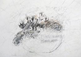 Serie 'Hör zu' 07 | 2013 | Mischtechnik auf Papier | 42 x 59,4 cm