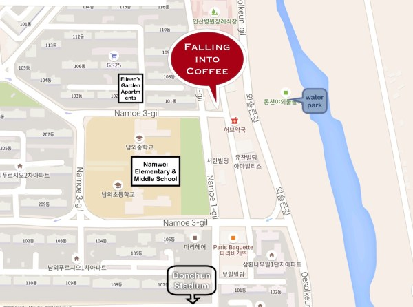 map to coffee shop
