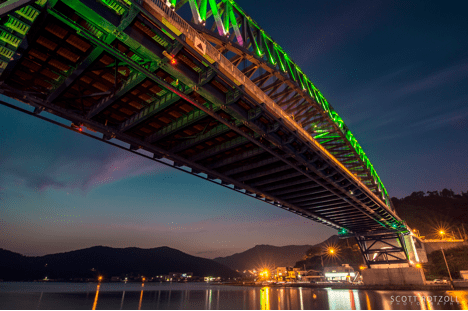 Tongyeong Grand Bridge night