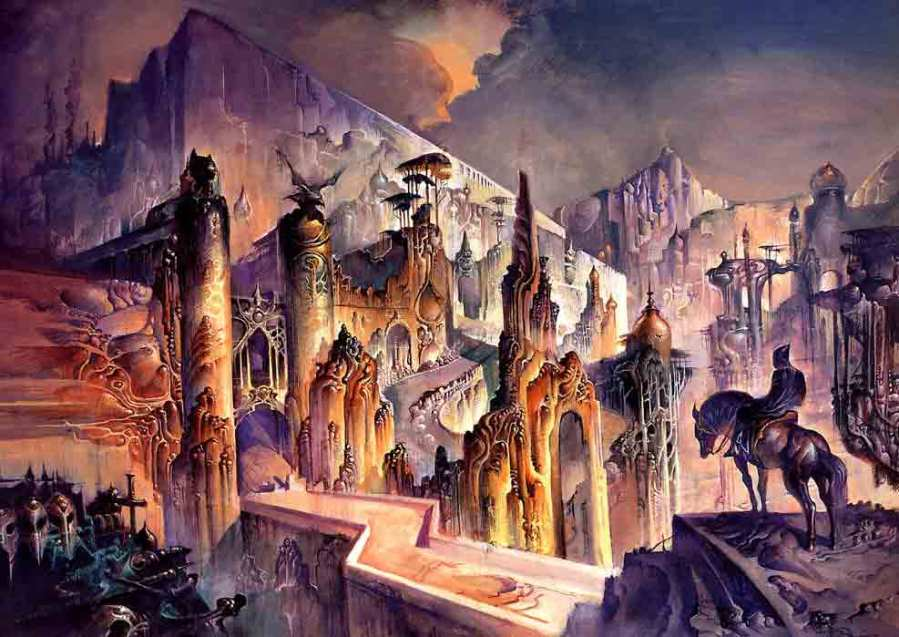 Cover for Gene Wolfe, The Citadel of the Autarch, (c) Bruce Pennington