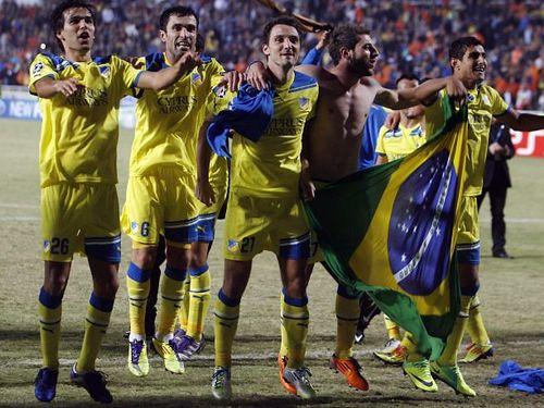 Brasileiros no Apoel, do Chipre